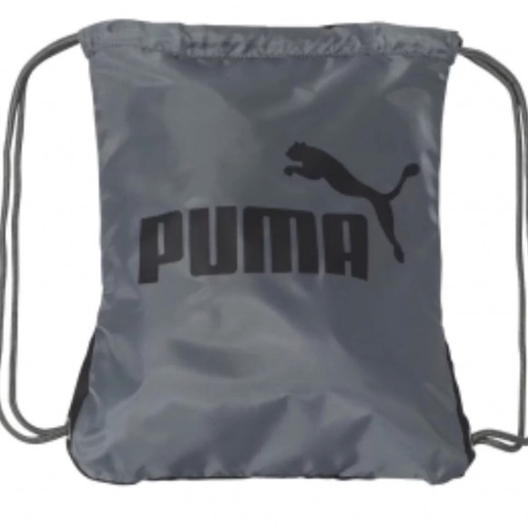 d03f748312cb Puma Forever Carry Sack String Bag Black Grey